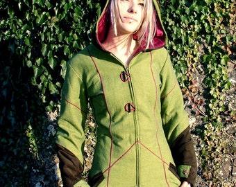 Pointy Pixie Jacket - Green, Brown, Raspberry