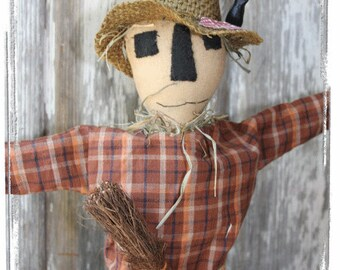 "OFG Team Primitive Folk Art E- Pattern ""S"" Is For Scarecrow Halloween"