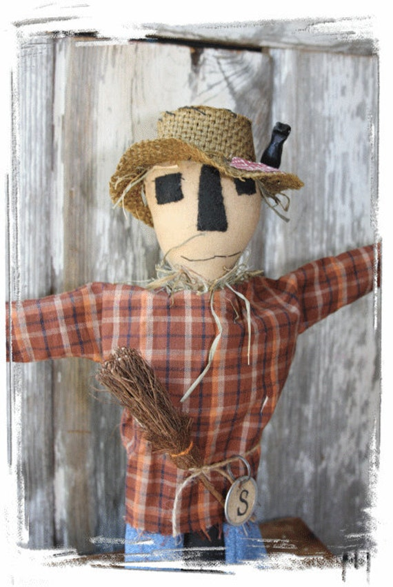 "OFG Team Primitive Folk Art  Pattern ""S"" Is For Scarecrow HAlloween"