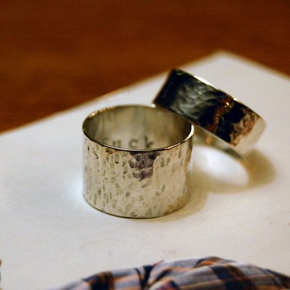 Anger Management F&*% You Ring. Buzzfeed Secret Swear FU Ring, Handmade Sterling Silver Curse Ring, Handcrafted Wide or Narrow Hammered Band