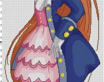 Pirate Lolita Cross Stitch Pattern - Professional Pattern Designer and Artist Collaboration