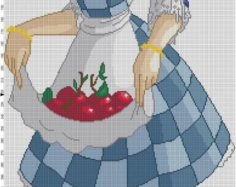 Country Lolita Cross Stitch Pattern - Profession Pattern Designer and Artist Collaboration