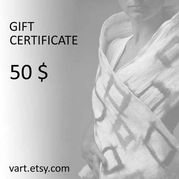 Last minute gift certificate at VART Etsy Shop Custom art Customizable Personalized gift idea