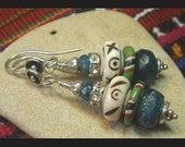 Stack of Stones V - Bohemian Apatite Earrings