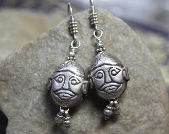 Silver Buddha Charm Earrings
