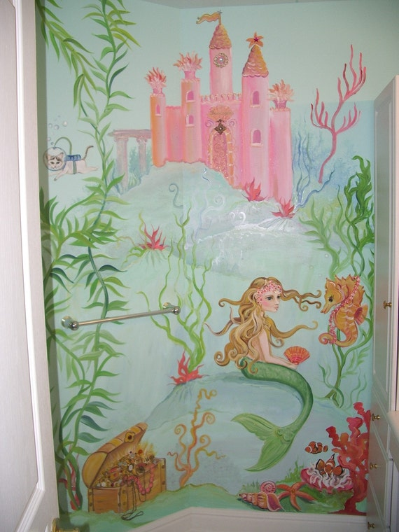 Estimate for mermaid mural mermaid mural painting custom for Decorative mural painting