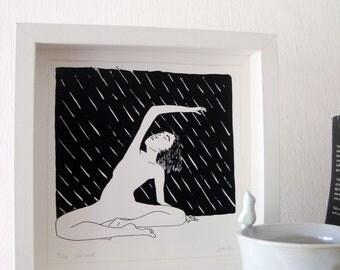 Into The Rain - Side Bend - Yoga Art