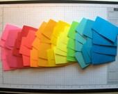 48 Mini Envelopes in Twelve Colors, Handmade PaperArt, Gift Enclosures, Floral Cards, Scrapbooks for Mini Treasures
