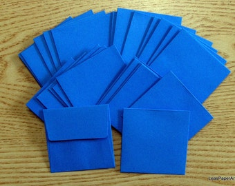 Handmade PaperArt Fifty Mini Envelopes in Cobalt BlueText Paper, New Color, 60 pound Text Paper