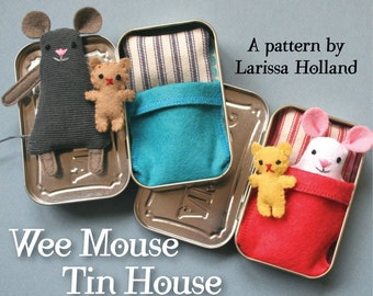 Wee Mouse Tin House PDF pattern