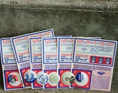 Set of 6 Early 1970s Political Campaign Buttons