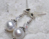 Pearl drops, pearl earrings
