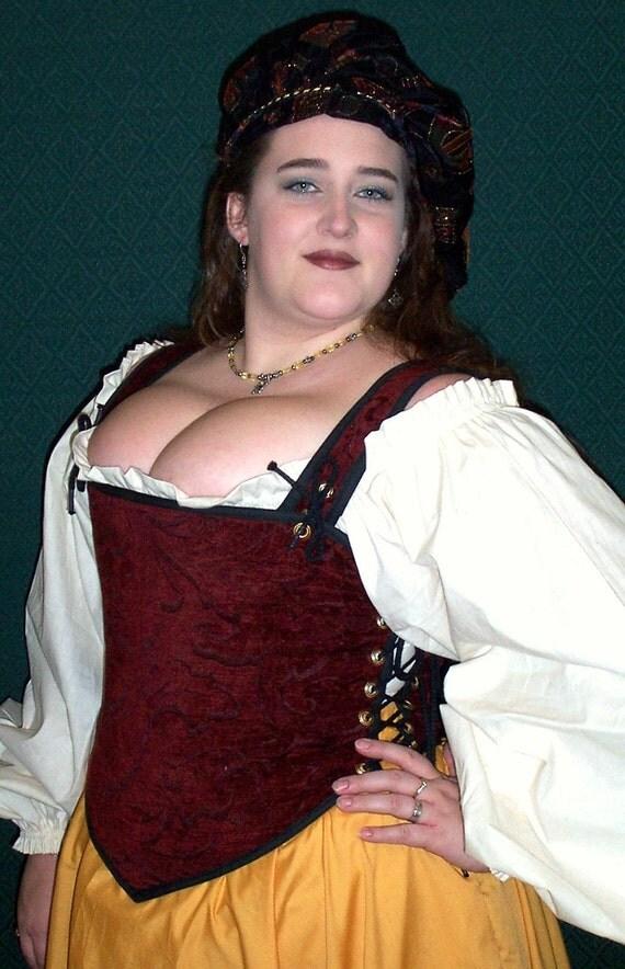 Odd Bodkin Goddess Bodice in Burgundy Chenille - Made to Order - burtap5