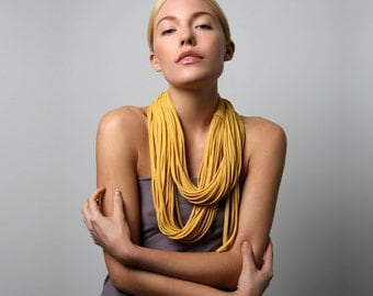 Infinity Scarf, Gifts for Her, Yellow Scarf, Womens, Girlfriend, Gift Ideas, Mustard Yellow Scarf, Gift, Womens Gift, Winter, Wife, Mom