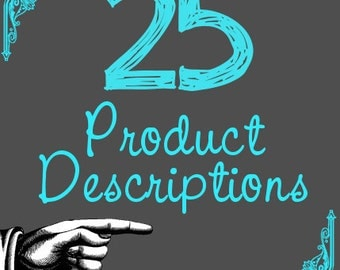 Product Descriptions - SEO Dense Item Description - Relevancy and Keywords for Your Handmade Business xxx
