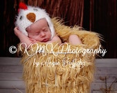 Baby Chick Hat Newborn 0 3m Fuzzy Chicken Rooster Crochet Soft Animal Photo Prop Clothes Boys Girls Farm SOFT  Perfect Year Round
