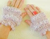 Fingerless Gloves (Crochet Pattern) Size Small