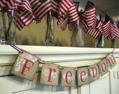 4th of July decoration FREEDOM Banner