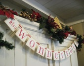 """Christmas Decoration """"It's a WONDERFUL Life"""" Holiday Banner"""