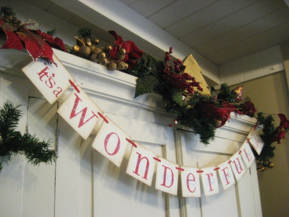 "Christmas Decoration ""It's a WONDERFUL Life"" Holiday Banner"