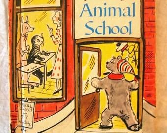 Vintage Childrens book: Miss Polly's Animal School