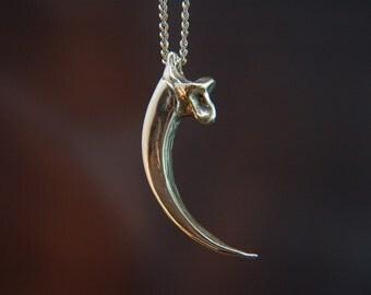 Eagle Talon necklace in Solid Sterling Silver Eagle Talon Pendant Necklace 003
