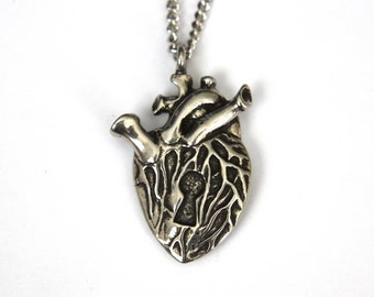 Human Heart Necklace .... with a Secret Silver Heart Necklace 015