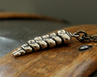 Rattlesnake Tail Necklace in Solid Bronze Rattle Snake Pendant Necklace Rattlesnake Jewelry 112