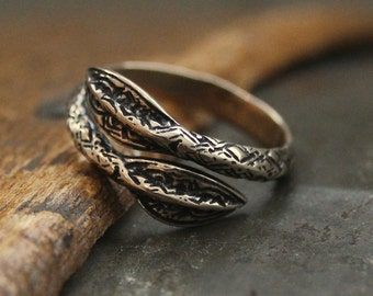 Two for One Sale...Viking Spearhead Ring in Solid Bronze Viking Spear Ring 150