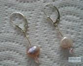 DEVOTION Earrings With Baroque Freshwater Pearls, Swarovski Crystals & Czech Glass On Sterling Silver Fan Leverbacks   -On Sale-