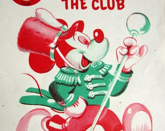 Walt Disney Mickey Mouse Club Coloring Book 1955 Whitman Rare Collectible