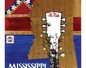 Ole Mississippi Print by binglishART