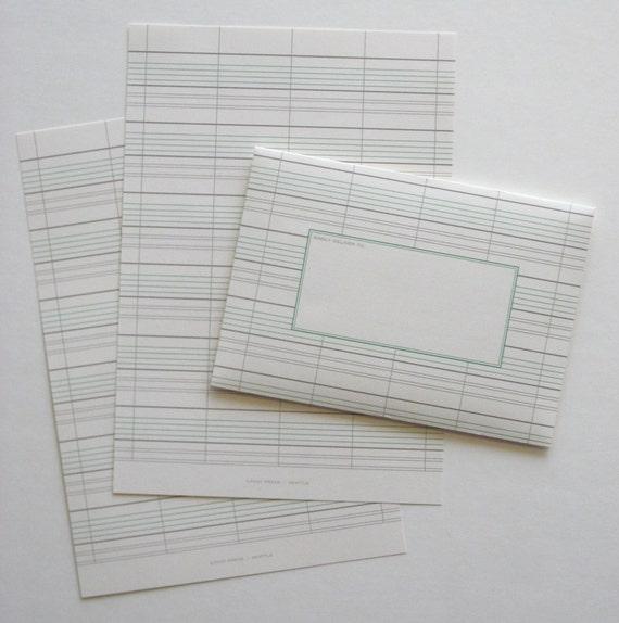 A1 size stationery set of 10 - Grey Ledger