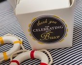 PREPPY NAUTICAL Printable Favor Tags - Navy and Yellow