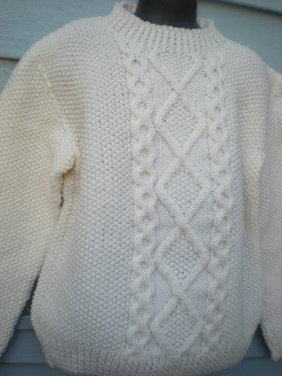 Irish Knit Mock Pullover, Size 6