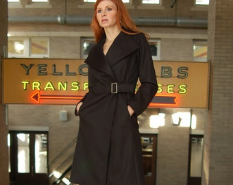 Sale 400 OFF Black all Cashmere coat in double-faced heavy Cashmere, size 4, last one