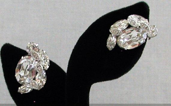 EISENBERG, Vintage Earrings, Gorgeous, Clear Crystal, Pronged, Vintage Earrings, Wedding