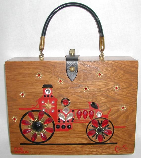 Enid Collins Vintage Handbag ... Fire Wagon ... Collins of Texas