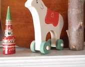 the wanderer /  folk art reindeer push toy - (vintage-inspired / scandinavian/ nursery decor)