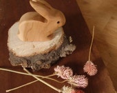mr. long ears /waldorf wood rabbit toy / handcarved woodland bunny  (easter/ spring)