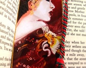 Geisha. bookmark crane japan red kimono art asian chinese