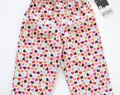 SALE - Confetti Hearts - Girls Lounge Pants - size 5T - Ready to Ship