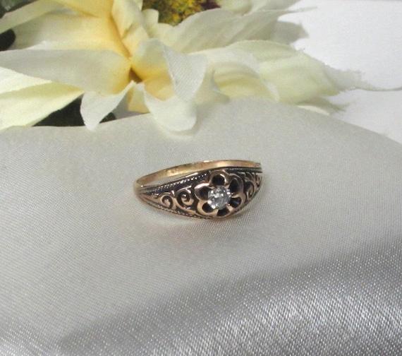 Antique Victorian Bride Diamond Ring, Vintage Diamond wedding Band,Antique Victorian Ring,Antique Jewelry,Estate Jewelry,Rare Unique
