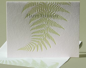 Fern Birthday Card and Blank Note Card