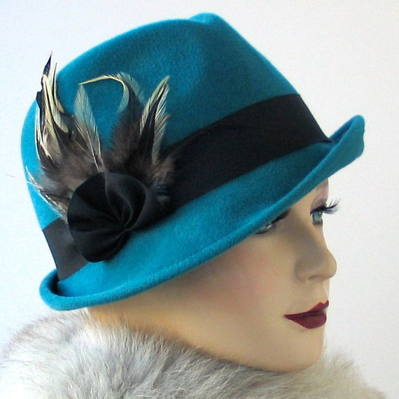 teal hat s hat fall fashion turquoise hat by