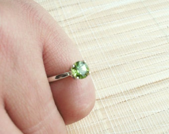 Peridot Ring Sterling Silver August Birthstone Made To Order