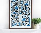 Higher - decorative screen print