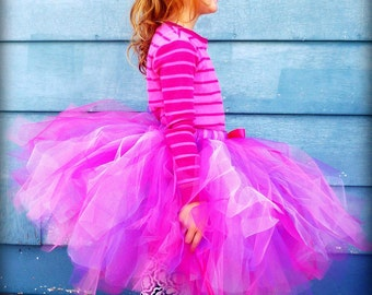 The Olivia - Custom Classic Mid Length Boutique Style Tutu - SEWN and Super FULL - your choice of colors and length - for parties, weddings