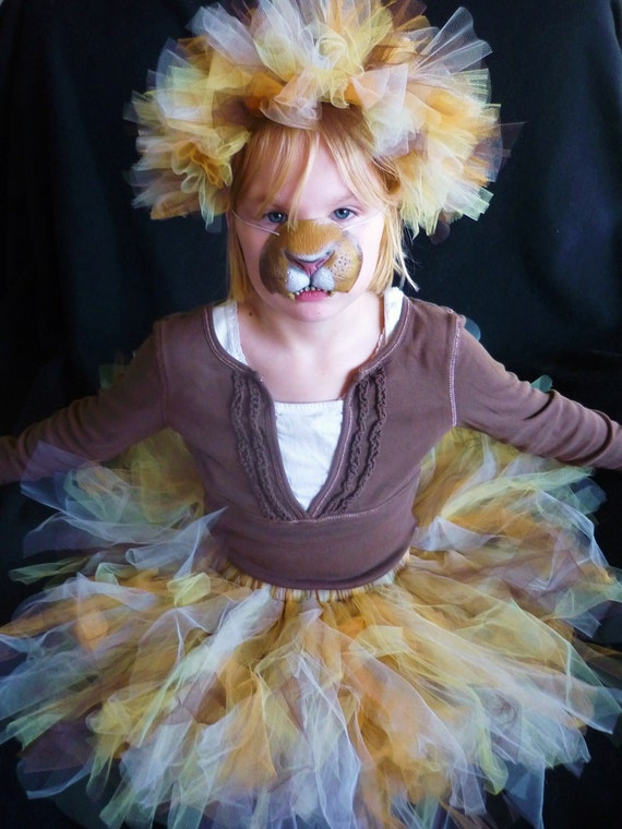 The Lion Queen - Custom Tutu and Headband set - Sewn and Super Full - Unique Costume - your choice of colors and length
