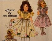 Daisy Kingdom DRESS APRON BONNET Sewing Pattern - Girls & Doll Clothes